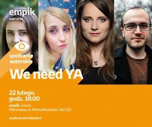 WarszawaJunior_20180222_We_Need_YA_FBpost-1-300x251 #SięCzyta, czyli młodzieżowe inspiracje książkowe